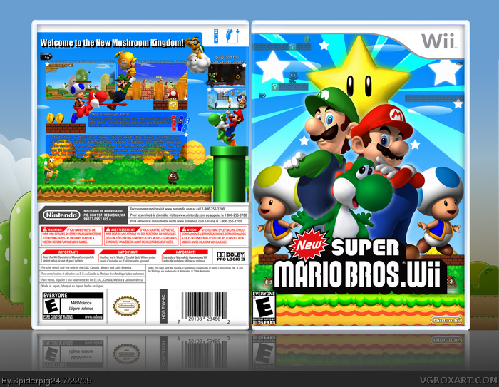 Super Mario Bros Wii H.B. Edition [NTSC][MULTi 3][Español ] Descarga Gratis