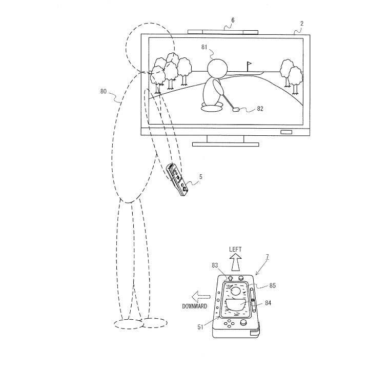 Patente de Wii U para jugar al golf
