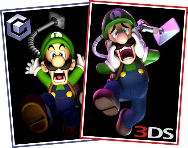 Imágenes comparativas entre Luigi's Mansion y Luigi's Mansion: Dark Moon