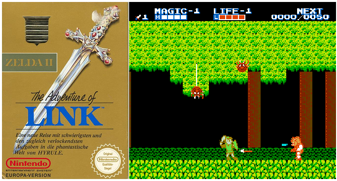Zelda 2 NES Adventures of Link