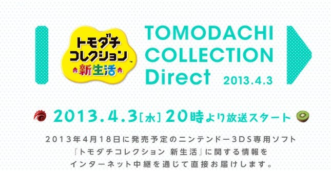 Anunciada una Nintendo Direct especial para 'Tomodachi Collection: New Life'