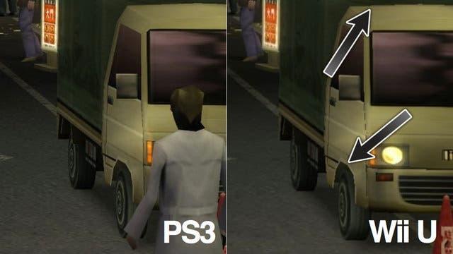 Comparativa gráfica de 'Yakuza 1&2: HD Edition' entre PS3 y Wii U