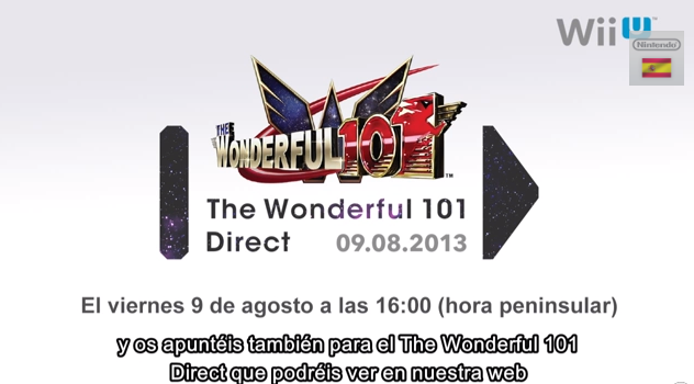 Nintendo Direct de The Wonderful 101 el 09/08/2013 a las 16:00