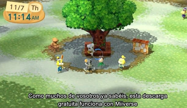Actualización de la 'Plaza Animal Crossing' en Wii U