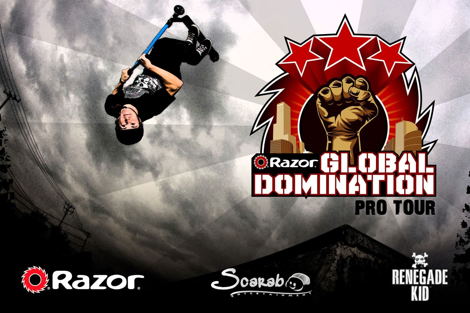Trucos y acrobacias con Razor Global Domination Pro Tour para Wii U