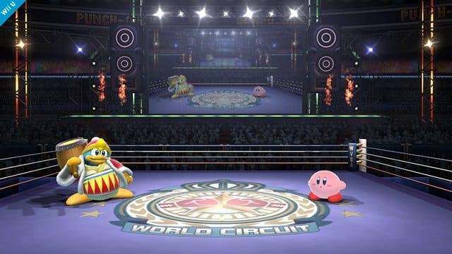 Versión doble del escenario de ring de boxeo en 'Super Smash Bros'