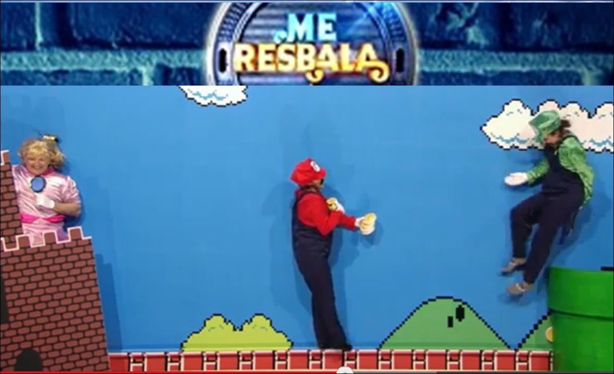 Super Mario hace acto de presencia en 'Me resbala'