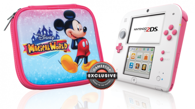 Anunciada 'Nintendo 2DS Peach Pink' exclusiva de GameStop
