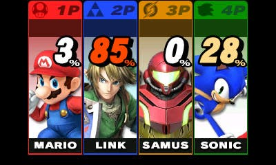Segunda pantalla de 3DS en 'Super Smash Bros.'