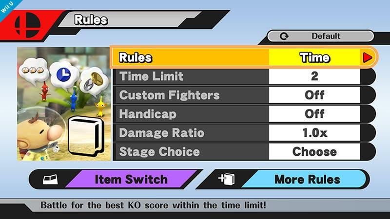 Sakurai nos muestra las configuraciones del modo 'Smash'
