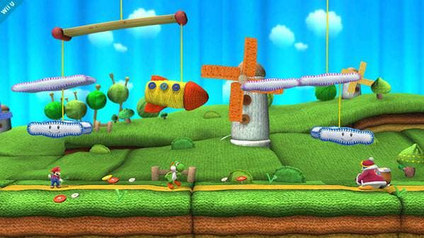 Así es el escenario de 'Yoshi's Woolly World' para 'Super Smash Bros. for Wii U'