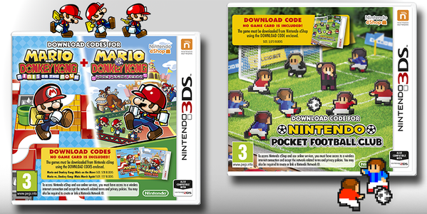 Nuevo pack de 'Nintendo Pocket Football Club' y 'Mario vs. Donkey Kong'