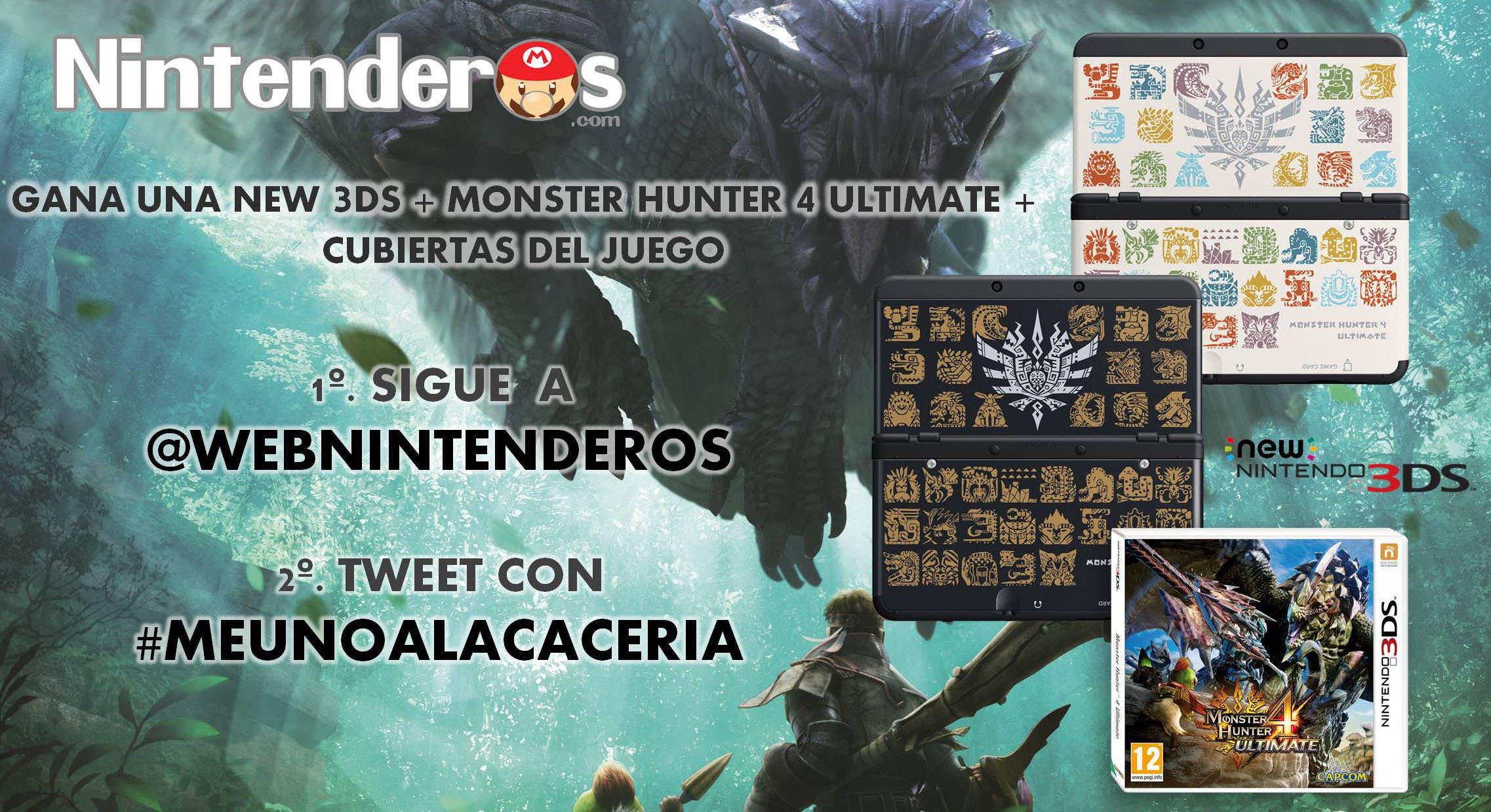 ¡Gana una New 3DS con el juego y las cubiertas de 'Monster Hunter 4 Ultimate'!