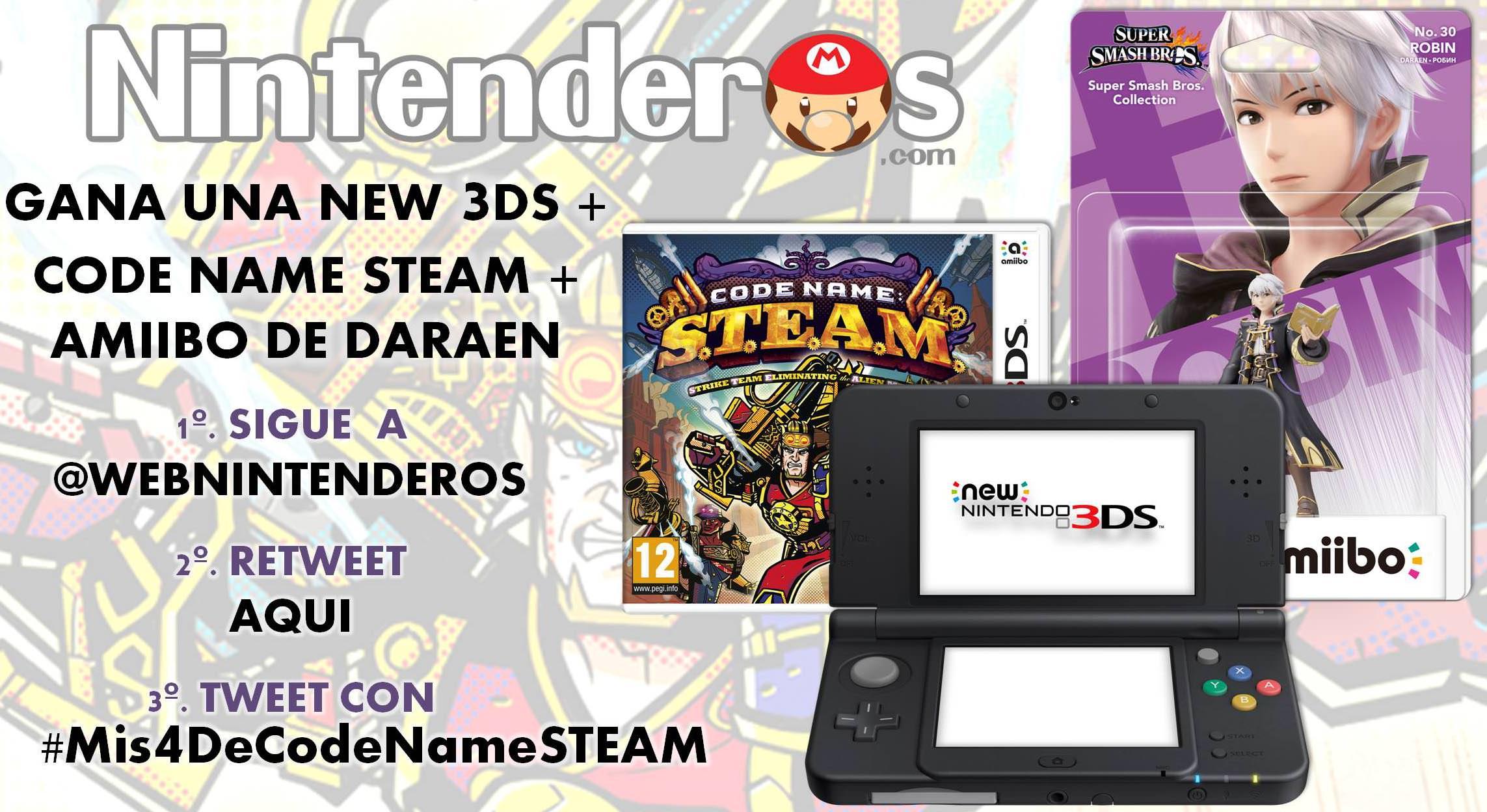 ¡Gana una New 3DS negra, una copia de 'Code Name S.T.E.A.M.' y un amiibo Daraen!