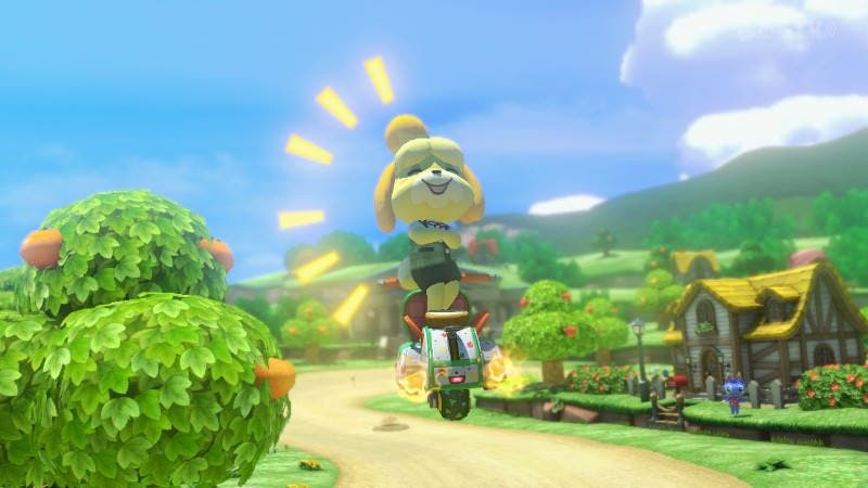 Un simple código nos permite elegir la estación del circuito Animal Crossing en 'Mario Kart 8'