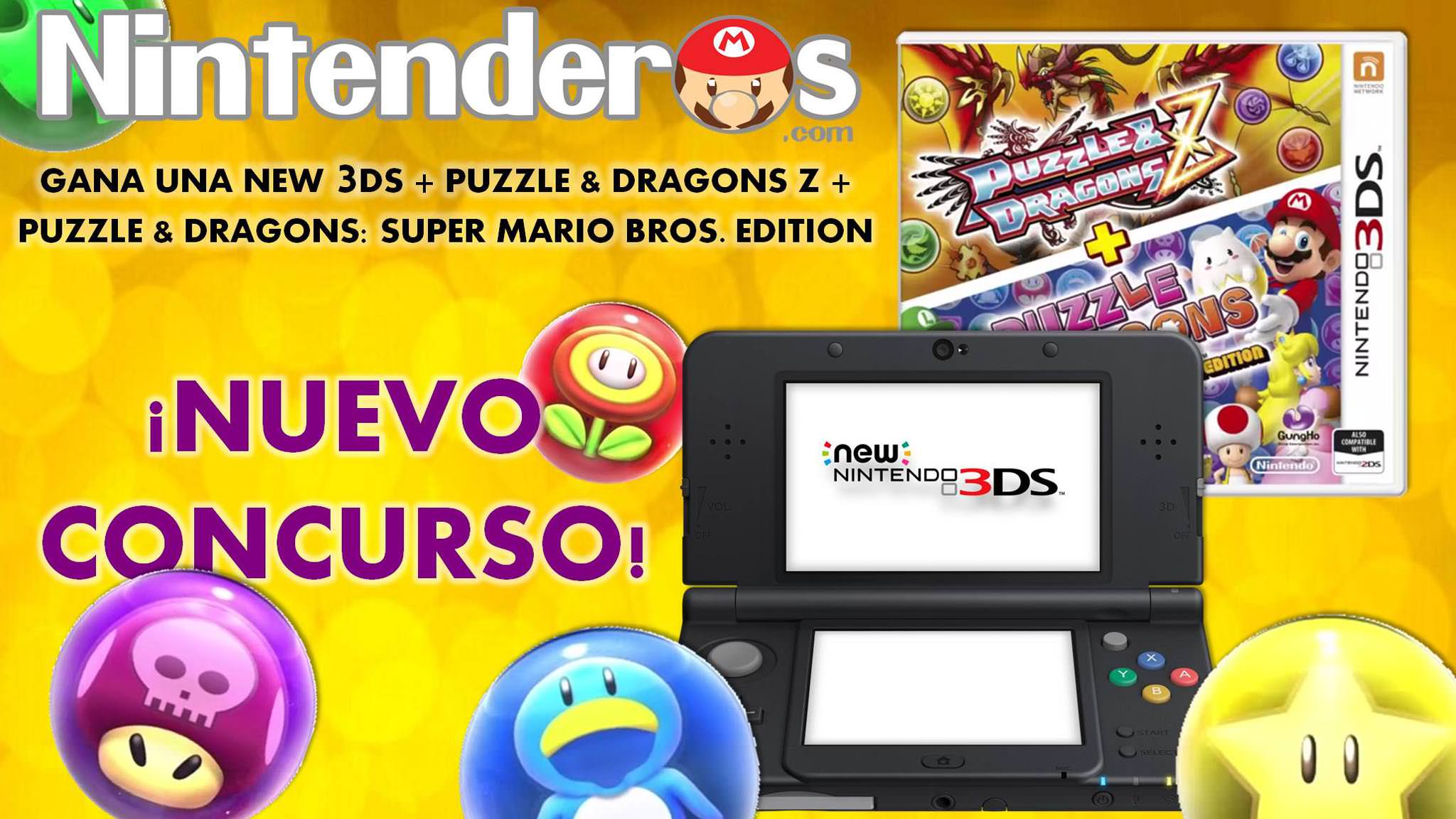 ¡Gana una New 3DS Negra con 'Puzzle & Dragons Z' + 'Puzzle & Dragons: Super Mario Bros. Edition'!
