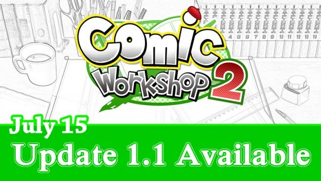 Ya disponible la actualización 1.1 para 'Comic Workshop 2' en Norteamérica