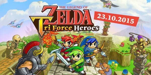 'The Legend of Zelda: Tri Force Heroes' se actualiza la versión 2.0.0
