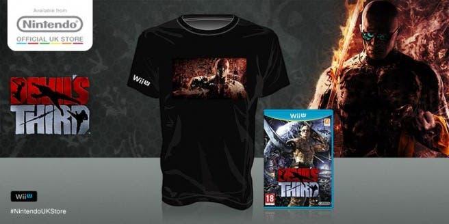 La tienda online de Nintendo UK ofrece una camiseta de 'Devil's Third' a quienes reserven allí el título