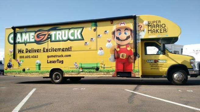 Nintendo vuelve a asociarse con GameTruck para promocionar 'Super Mario Maker' con más de 100 camiones