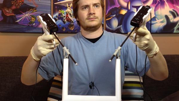 Este extraño dispositivo nos permite realizar una cirugía mínimamente invasiva en nuestra Wii U