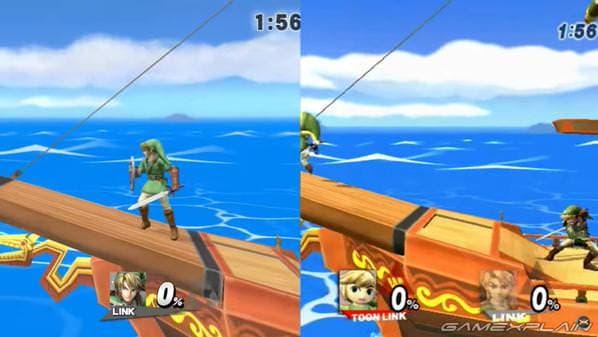 Vídeo comparativo entre las versiones de Wii U y Wii del Barco Pirata de 'Smash Bros.'
