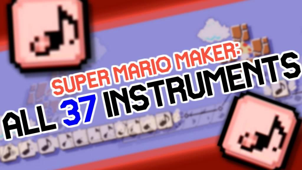 Echa un vistazo a los 37 instrumentos musicales presentes en 'Super Mario Maker'