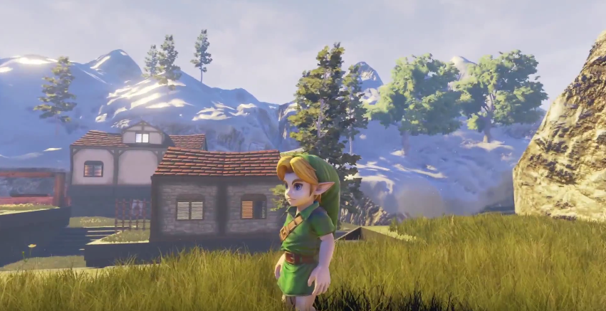 No te pierdas esta recreación de Kakariko de 'Ocarina of Time' con Unreal Engine 4