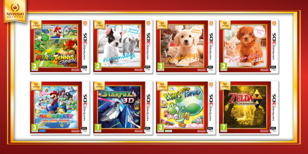 Ya disponibles los Nintendo Selects de 3DS
