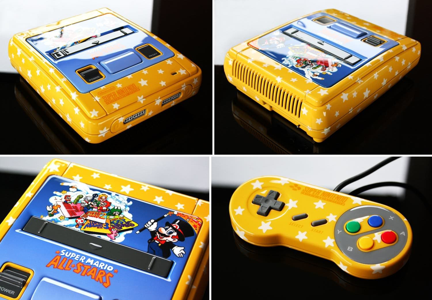 Un fan decora su SNES con motivos de 'Super Mario All Stars'