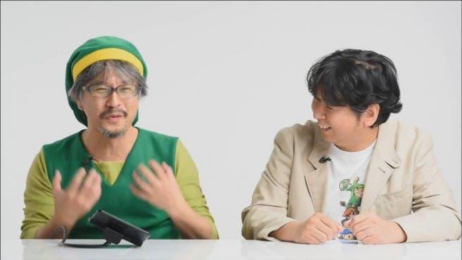 Aonuma juega a 'The Legend of Zelda: Triforce Heroes' junto al director del título