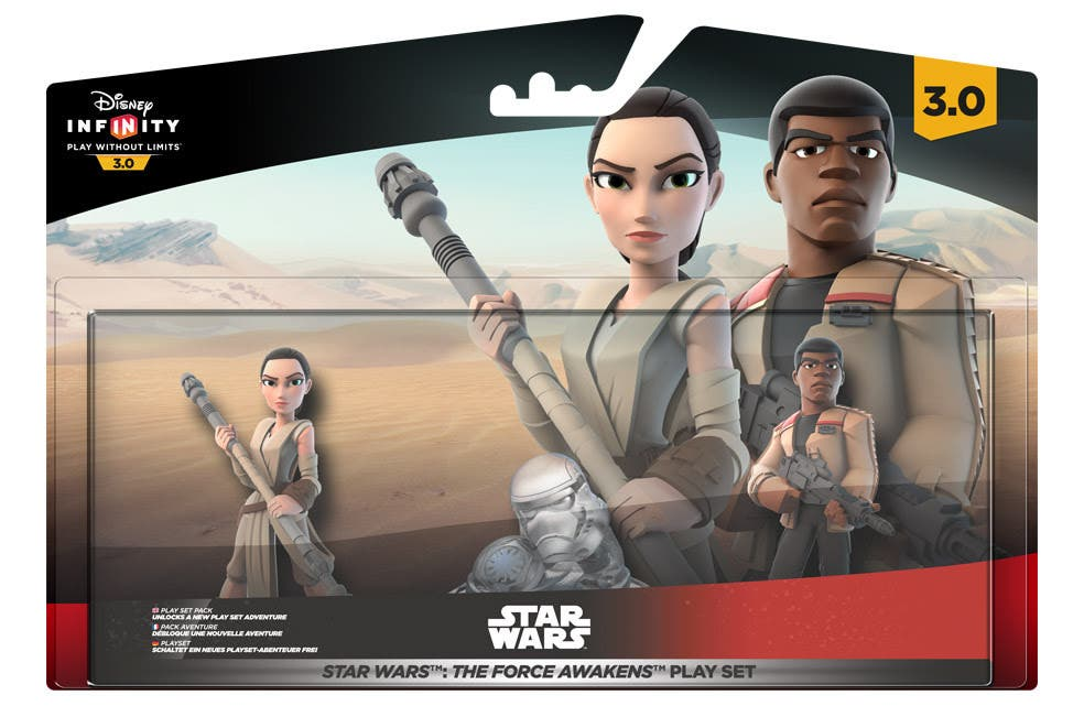 El Play Set Star Wars: The Force Awakens llegará a 'Disney Infinity 3.0' el 18 de diciembre con Finn, Rey, Poe Dameron y Kylo Ren