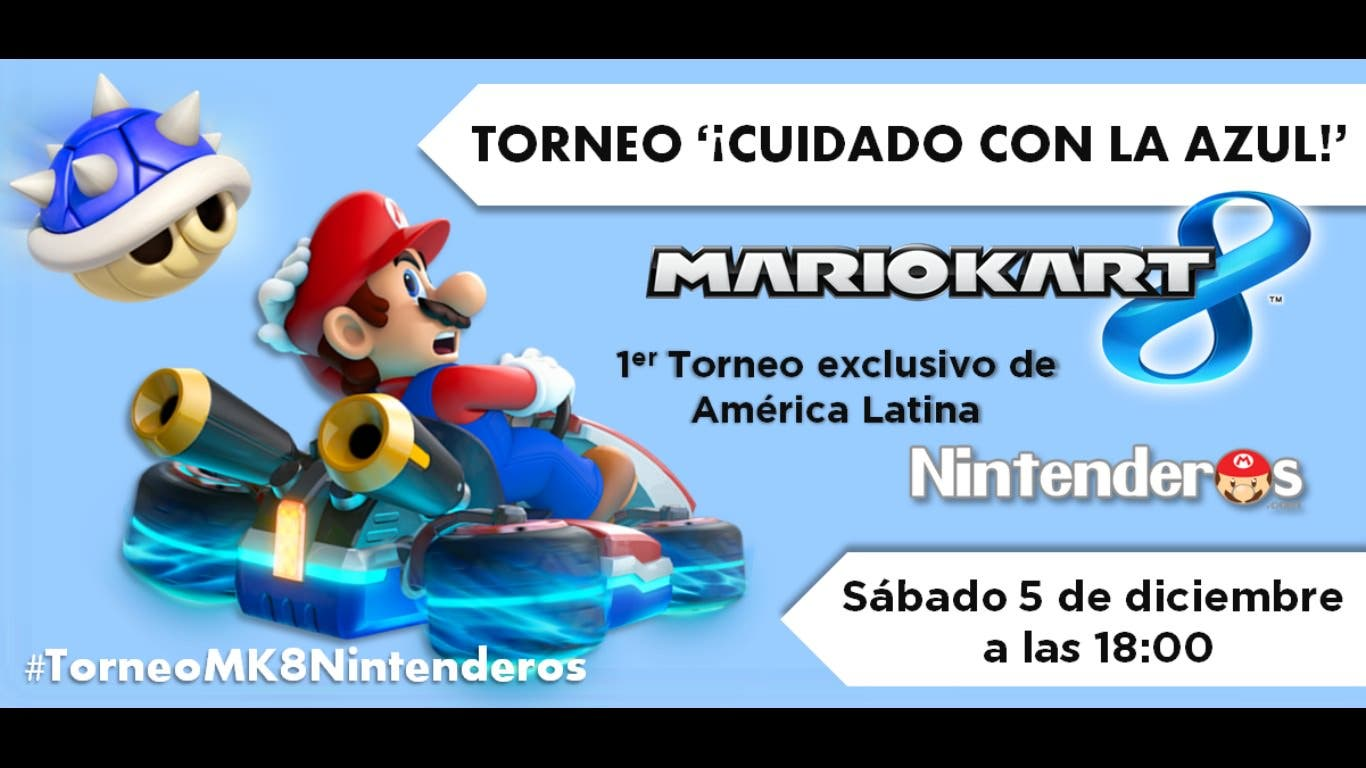 Primer torneo de 'Mario Kart 8' exclusivo para América: ¡Cuidado con la azul!