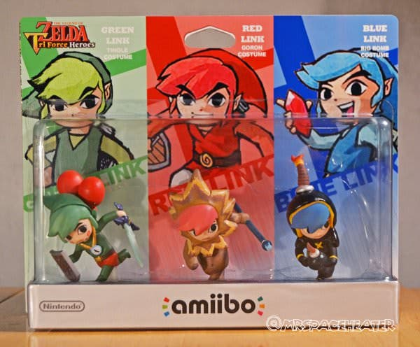 Un fan crea los amiibo de Link verde, rojo y azul de 'The Legend of Zelda: Triforce Heroes'