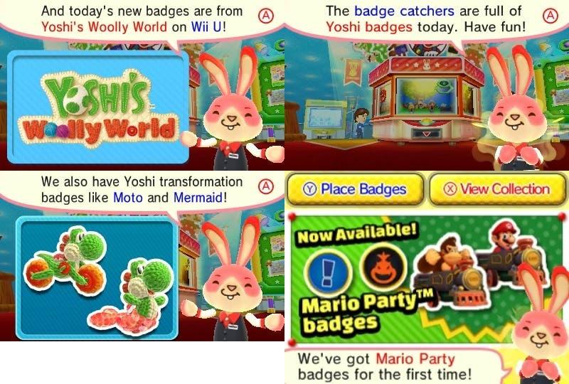Nueva actualización norteamericana de 'Nintendo Badge Arcade'