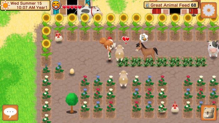 Natsume comparte las primeras capturas de 'Harvest Moon: Seeds of Memories'
