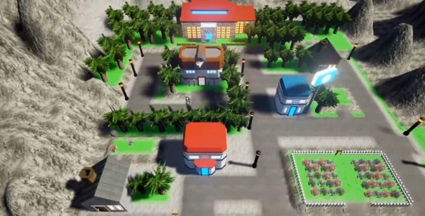 Un fan recrea la región de Kanto con Unreal Engine 4