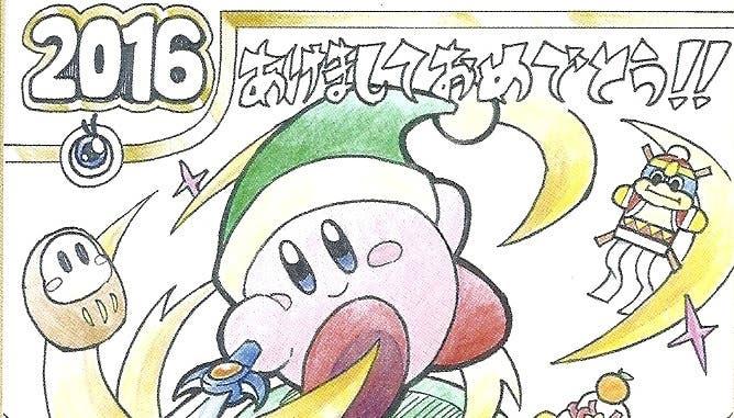 Nuevos dibujos de felicitación de año de 'Zelda', 'Kirby', 'Dragon Quest' y más