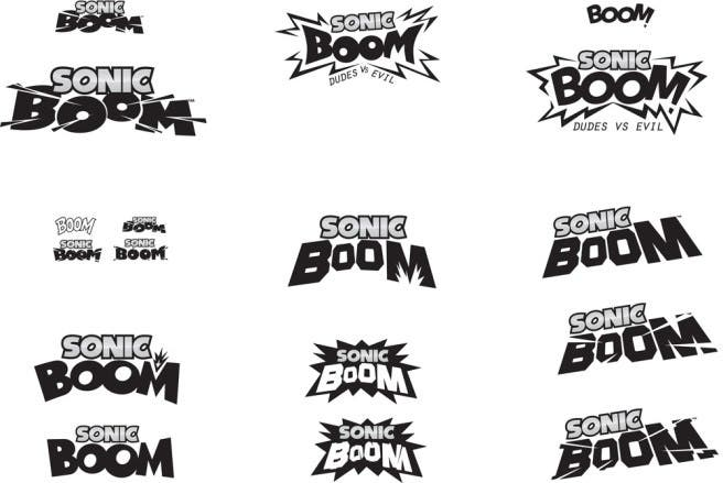 Descubren logos alternativos de 'Sonic Boom'