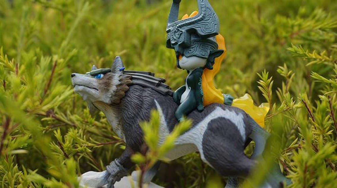 amiibo midna wolf lobo link