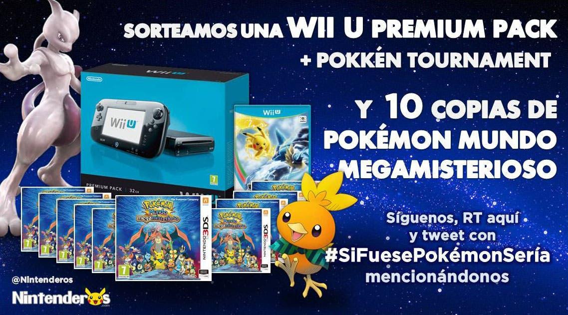 ¡Sorteamos un Pack Premium de Wii U + 'Pokkén Tournament' y 10 'Pokémon Mundo megamisterioso'!