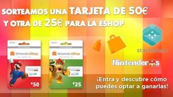 ¡Sorteamos una tarjeta eShop de 50€ y otra de 25€ junto a Startselect!
