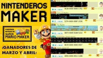 Nintenderos Maker #35: ¡Ganadores de marzo y abril!