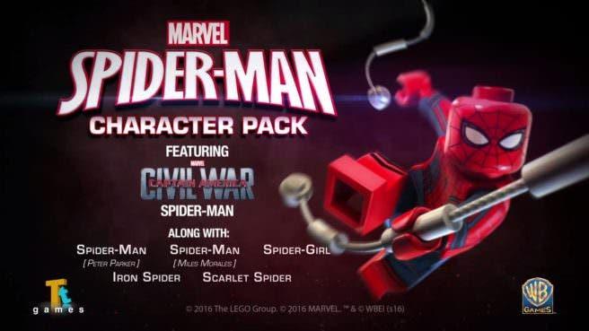 Echa un vistazo a Spiderman en el nuevo DLC de 'LEGO Marvel Vengadores'