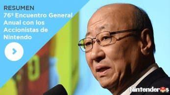 Resumen del 76º Encuentro General Anual con los Accionistas de Nintendo