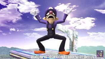 waluigi super smash bros beawl mod
