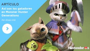 [Artículo]Así son los gatadores en 'Monster Hunter Generations'