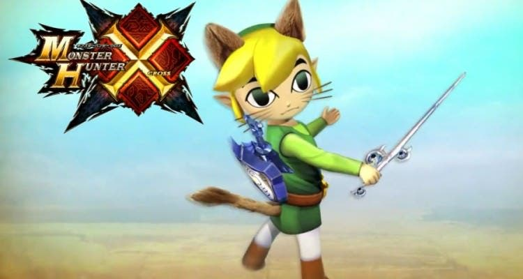 La colaboración de 'Monster Hunter Generations' y 'Zelda: Wind Waker' se confirma para occidente