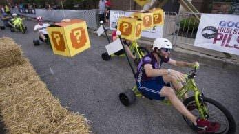 El 'Human Mario Kart' llega desde Fountain Square