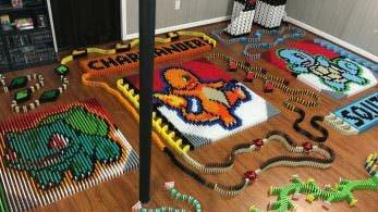 No te pierdas este espectacular tributo a 'Pokémon' creado con más de 14.000 fichas de dominó